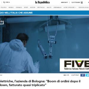 FIVE - Bici elettriche: la video intervista su RepTv